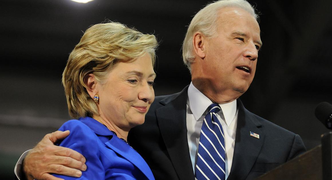 Phó tổng thống Joe Biden ủng hộ bà Hillary Clinton 1