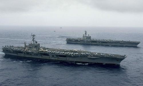 Báo Trung Quốc tức tối vì Mỹ đưa 2 tàu sân bay đến gần Biển Đông 1