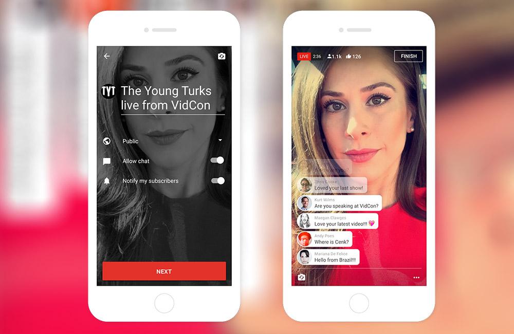 YouTube chính thức hỗ trợ Live Streaming bằng app 1