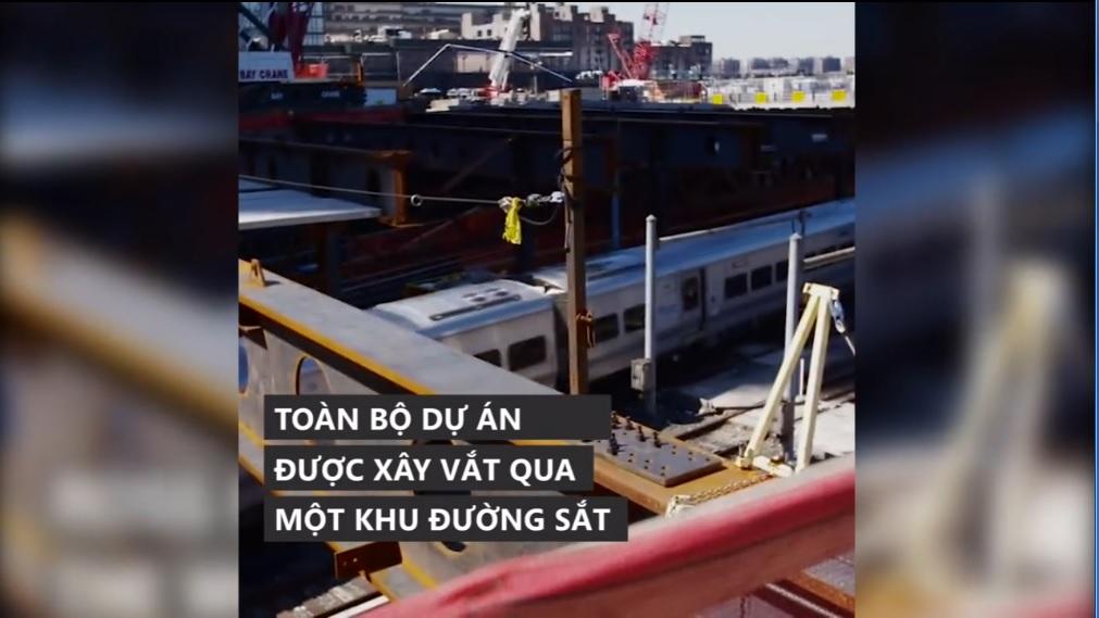 Dự án bất động sản hàng tỷ USD xây trên khu đường sắt New York 1