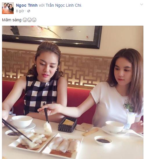 Facebook sao Việt: Đông Nhi đọ nhan sắc bên hoa hậu Thu Thảo 9