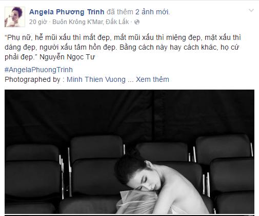 Facebook sao Việt: Hạ Vi khoe khéo vòng eo săn chắc 14