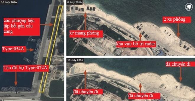Trung Quốc 'âm thầm' rút tên lửa ra khỏi đảo Phú Lâm 1