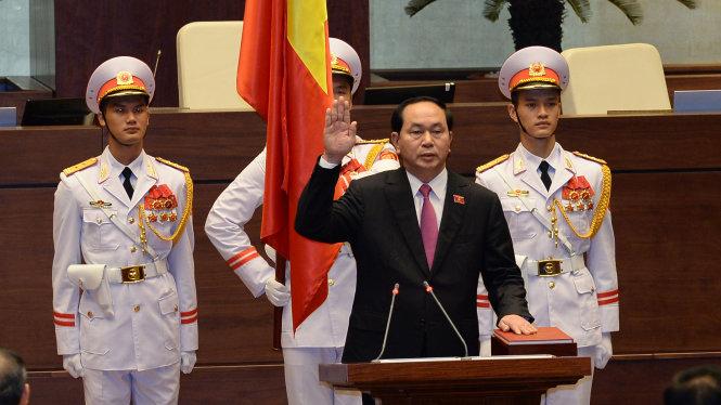 Chủ tịch nước Trần Đại Quang tuyên thệ nhậm chức 1