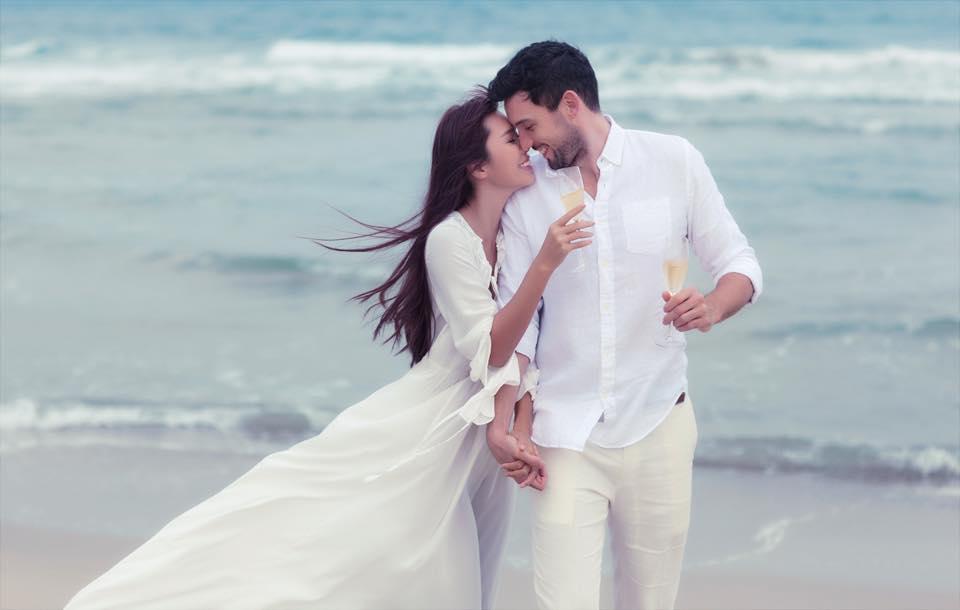 Bộ ảnh cưới ngọt ngào của siêu mẫu Hà Anh bên chồng Tây 1