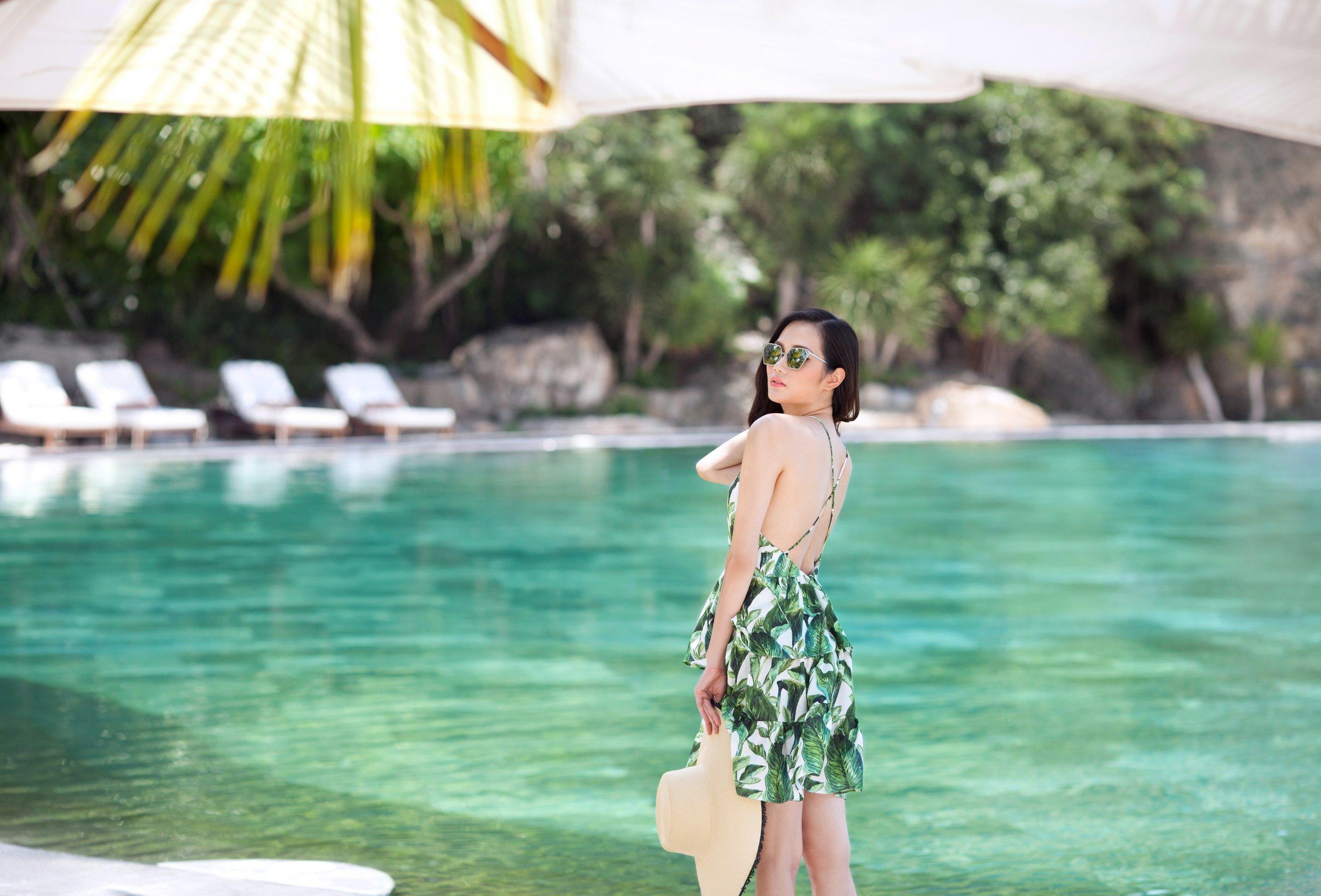Hoa hậu Đông Nam Á Diệu Linh gợi ý trang phục đi biển  2
