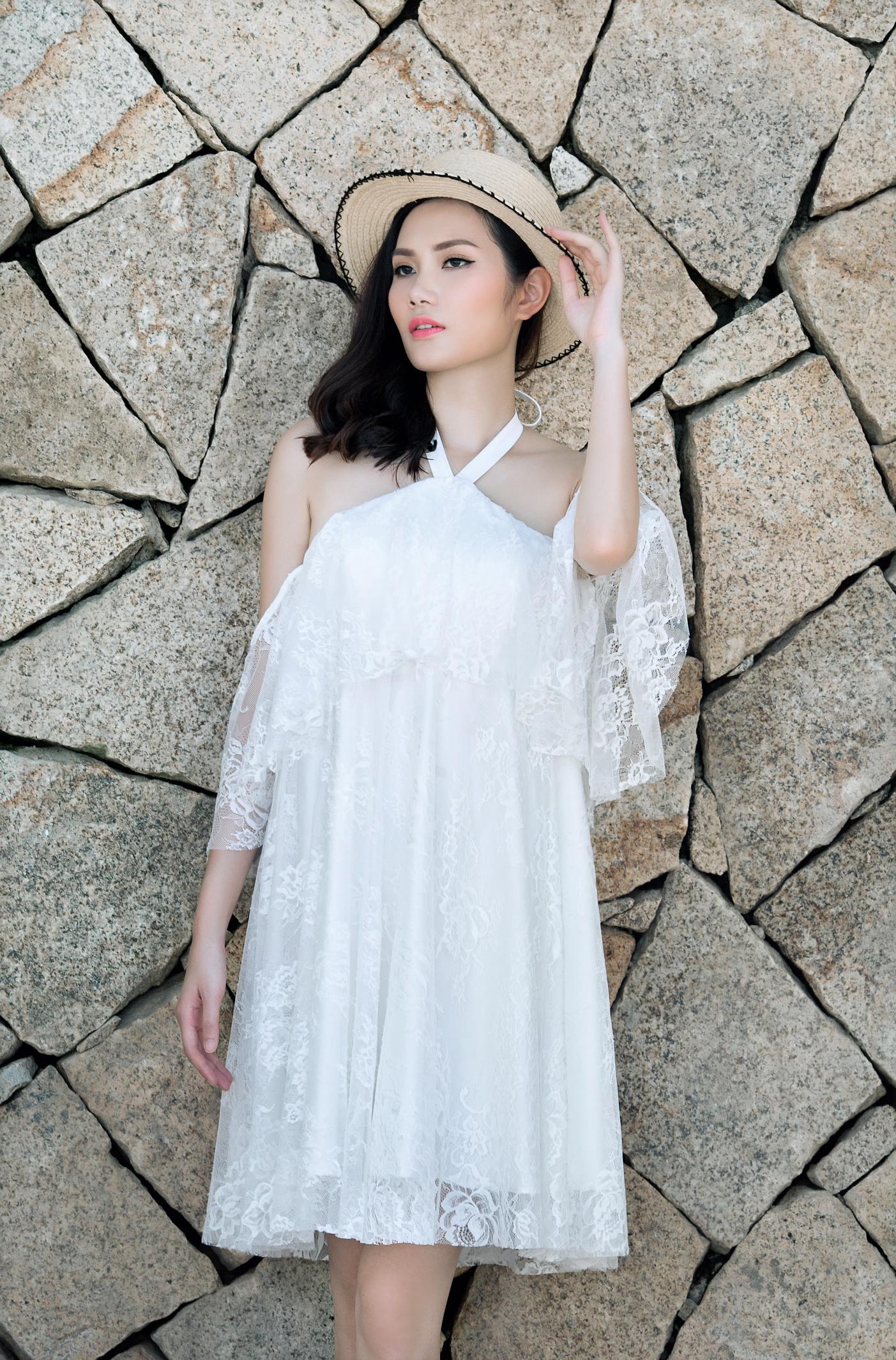 Hoa hậu Đông Nam Á Diệu Linh gợi ý trang phục đi biển  9