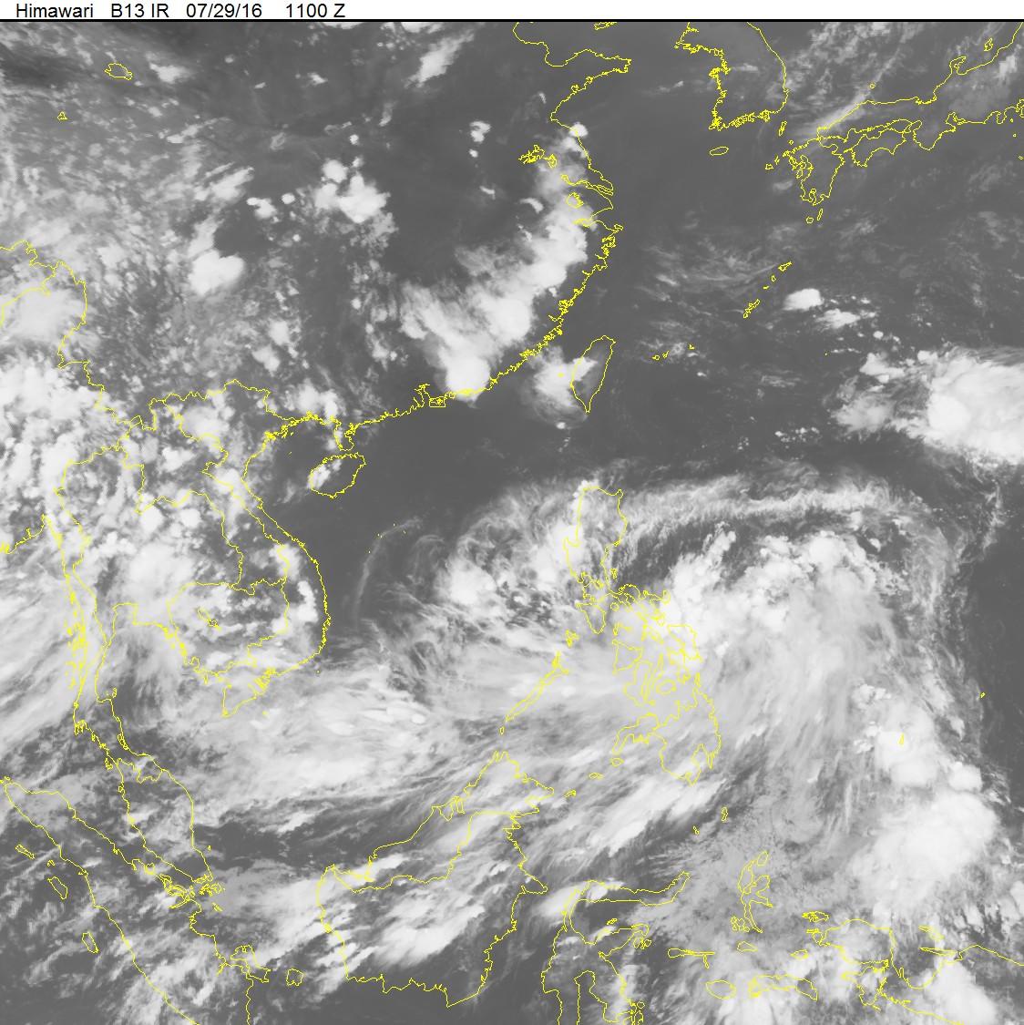 Áp thấp nhiệt đới mạnh cấp 9 hướng vào Biển Đông 1
