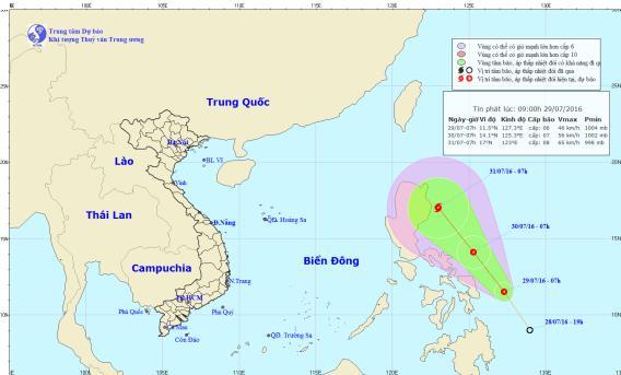 Áp thấp nhiệt đới mới có khả năng mạnh lên thành bão số 2 1