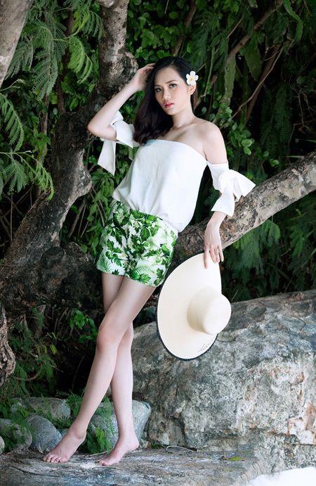 Hoa hậu Đông Nam Á Diệu Linh gợi ý trang phục đi biển  5