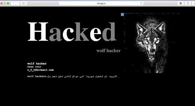 Trang chủ LĐBĐ Việt Nam bị hacker tấn công  1
