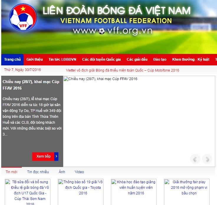 Trang chủ LĐBĐ Việt Nam bị hacker tấn công  2