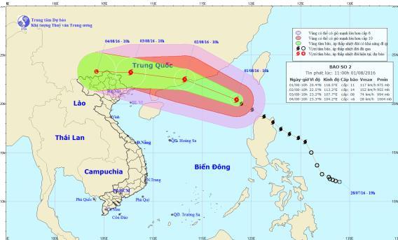 Bão số 2- bão Nida giật cấp siêu bão khi vào Trung Quốc 1