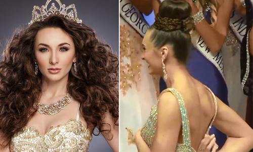 Tân Hoa hậu Trái đất Mỹ 2016 gặp sự cố trang phục lúc đăng quang 1