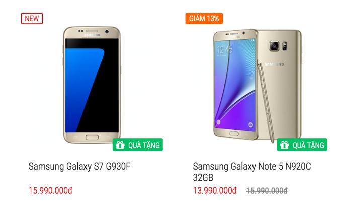 Galaxy Note 5 giảm thêm 1 triệu đồng ngay trước giờ ra mắt Note 7 2