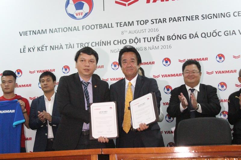 Thầy trò HLV Hữu Thắng được tài trợ khủng trước AFF Cup 2016 1