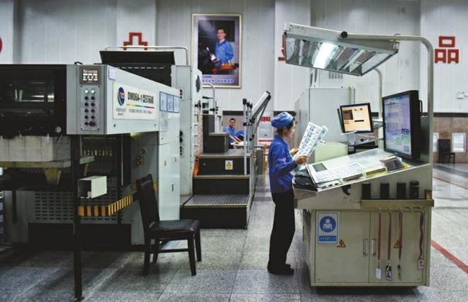 Cận cảnh bên trong nhà máy in tiền Trung Quốc 1