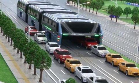 Xe bus chống tắc đường ở Trung Quốc bị nghi là trò bịp 1