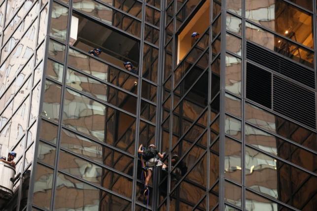 Leo tháp 58 tầng để thể hiện sự ủng hộ Trump 2