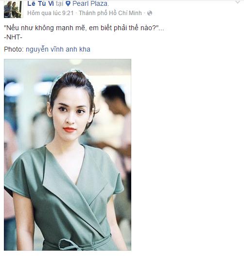 Facebook sao Việt: Lê Phương lấp lửng về người đàn ông bên cạnh mình 13