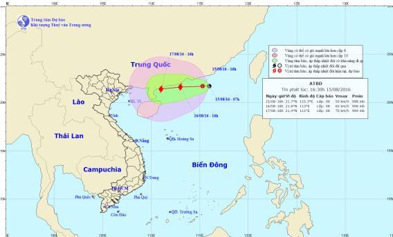 Áp thấp nhiệt đới giật cấp 10 trên Biển Đông 1