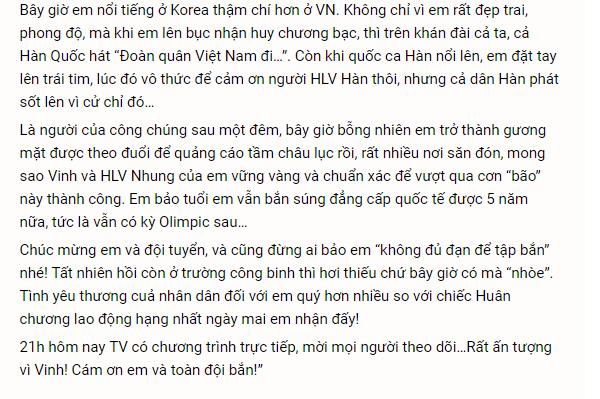 Bạn của Hoàng Xuân Vinh tiết lộ lý do thật sự khiến xạ thủ bỏ lỡ HCV thứ 2 2