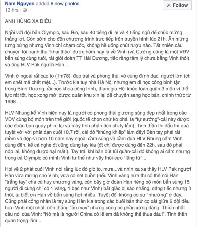 Bạn của Hoàng Xuân Vinh tiết lộ lý do thật sự khiến xạ thủ bỏ lỡ HCV thứ 2 1