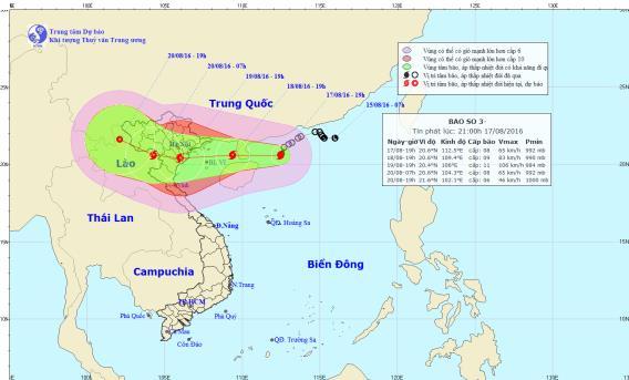Bão số 3 giật cấp 14 sẽ đổ bộ vào Quảng Ninh- Nghệ An 1