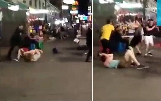 Video nhóm thanh niên Thái Lan đánh dập du khách dã man giữa đường phố 1