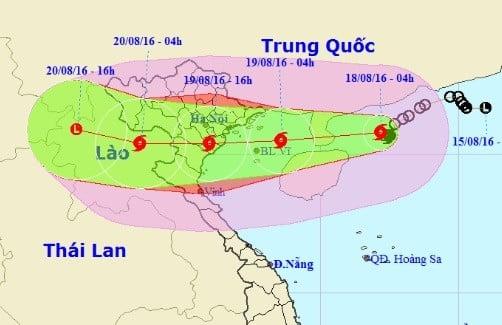 Tin bão số 3 khẩn cấp: Bão số 3 giật cấp 13 cách Nam Định 180km 1