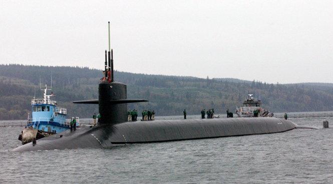 Tàu ngầm hạt nhân Mỹ va chạm tàu tiếp tế ở Thái Bình Dương 1