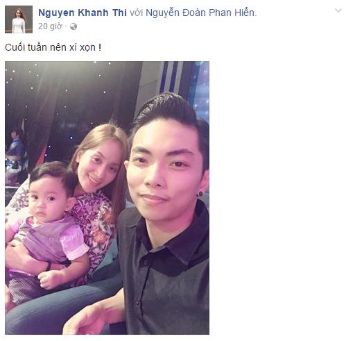 Facebook sao Việt: Thanh Hằng đẹp tựa thiên thần, Lý Hải đảm đang chăm sóc con 5