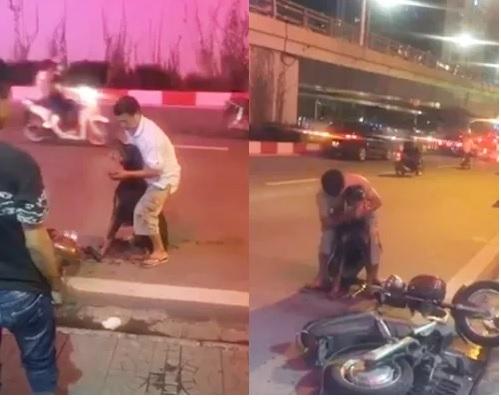 Video người chủ ôm chó Doberman bị đâm trọng thương la hét cầu cứu trên phố Hà Nội 1