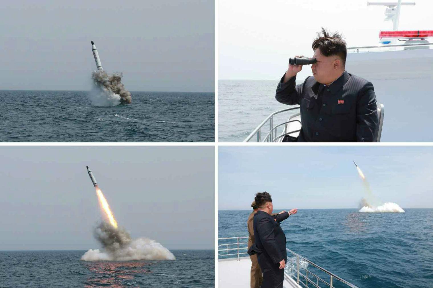Kim Jong-Un tung hô vụ phóng tên lửa từ tàu ngầm 1