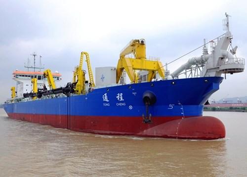 TQ nhận tàu nạo vét siêu lớn, tăng cường hoạt động phi pháp tại Biển Đông 1