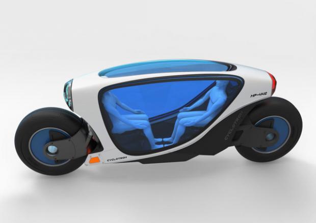 Xe máy tự lái, tự cân bằng sắp xuất hiện trong tương lai 2