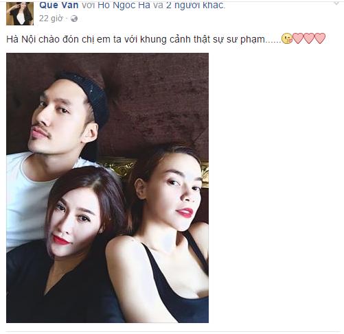 Facebook sao Việt: Hồ Ngọc Hà cao tay đáp trả đả kích vợ đại gia Kim Cương 12
