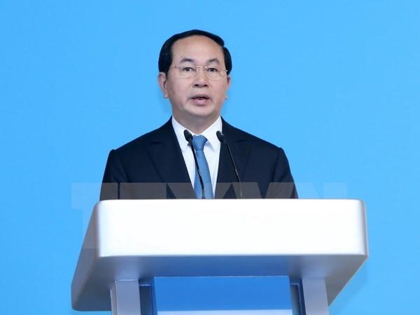 Hình ảnh Chủ tịch nước Trần Đại Quang: Nếu xung đột vũ trang, tất cả cùng thua số 1
