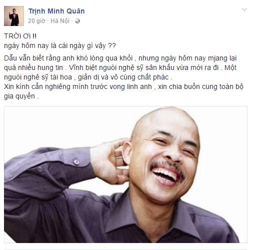 Sao Việt đau buồn trước sự ra đi của NSƯT Hán Văn Tình 8