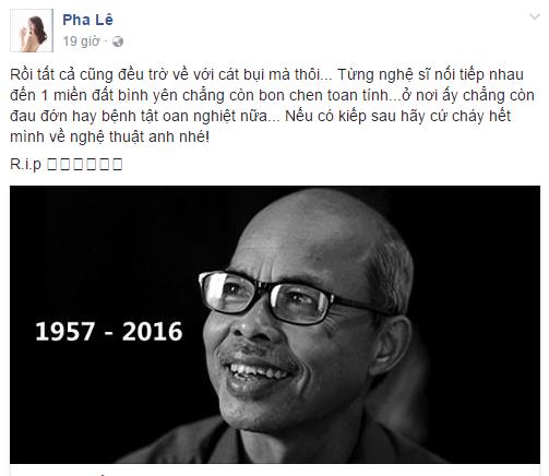 Sao Việt đau buồn trước sự ra đi của NSƯT Hán Văn Tình 9