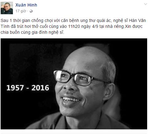 Sao Việt đau buồn trước sự ra đi của NSƯT Hán Văn Tình 7