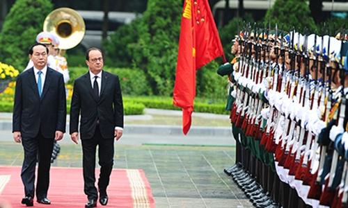Tổng thống Pháp Hollande thăm chính thức Việt Nam 1