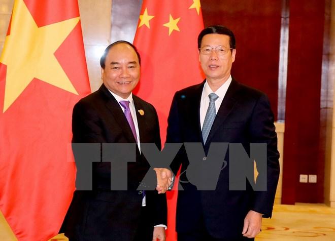 Thủ tướng Nguyễn Xuân Phúc tiếp Phó Thủ tướng Trung Quốc 1