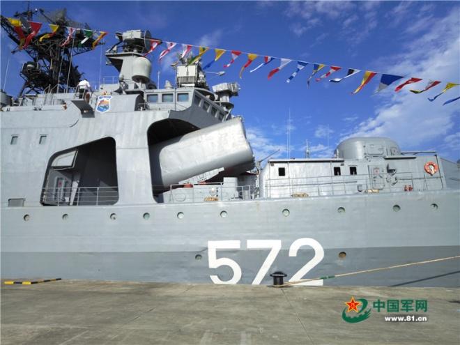 Chùm ảnh: Tàu chiến Nga cập cảng Trung Quốc, chuẩn bị tập trận ở Biển Đông 2
