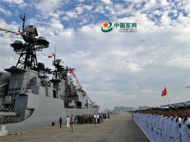 Chùm ảnh: Tàu chiến Nga cập cảng Trung Quốc, chuẩn bị tập trận ở Biển Đông 3