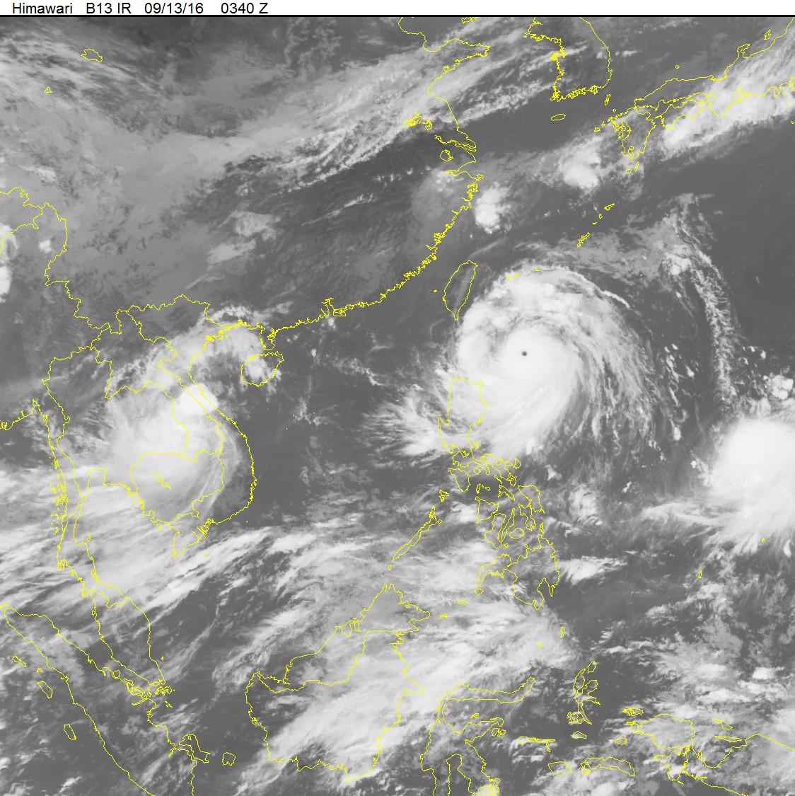 Siêu bão Meranti giật trên cấp 17 tiến sát Biển Đông 1