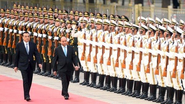 Trung Quốc bắn 19 phát đại bác đón Thủ tướng Nguyễn Xuân Phúc 2