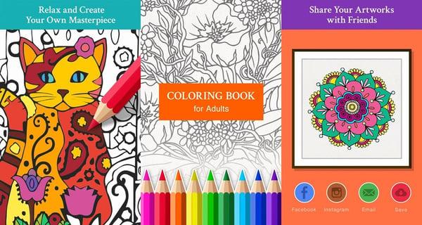 5 ứng dụng tô màu đầy nghệ thuật dành cho người lớn 5
