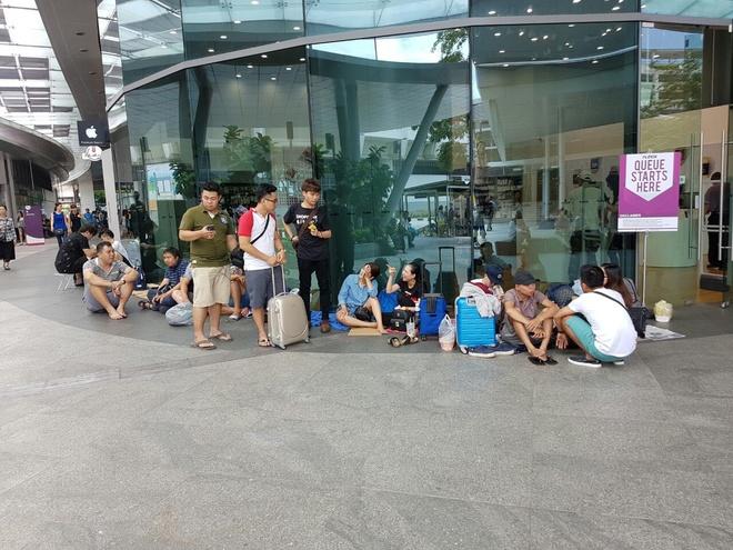 Người Việt tranh giành, gây náo loạn khi mua iPhone 7 trong đêm ở Singapore 2