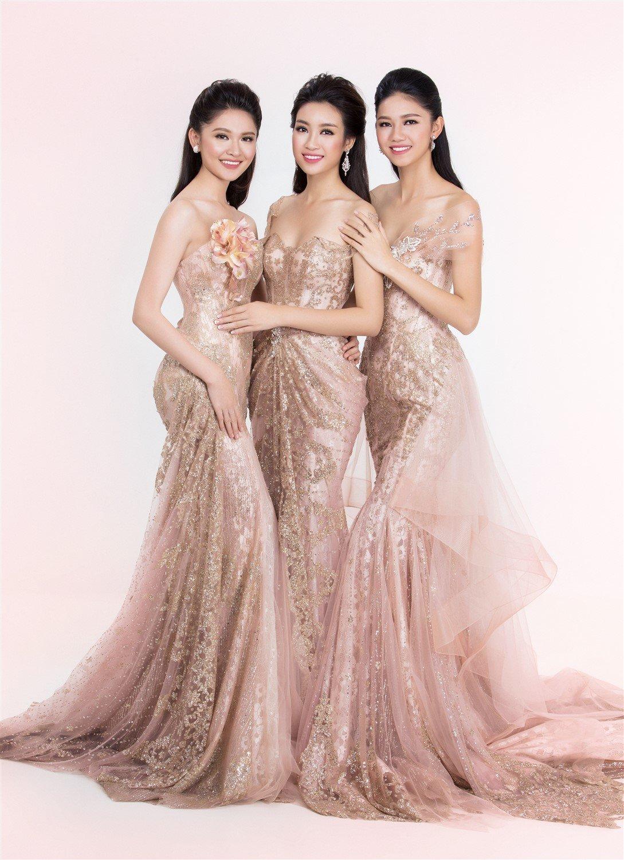 Nhan sắc kiêu kỳ của Top 3 Hoa hậu Việt Nam trong bộ ảnh dạ hội 1